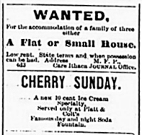 An advert for a cherry sunday