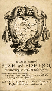 The title page of the first edition of The Compleat Angler