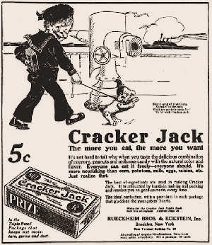 An early ad for Cracker Jack