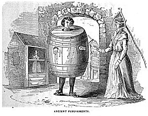 A nineteenth-century drawing of a drunkard's cloak