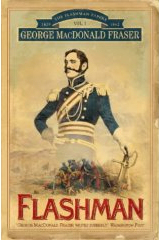 The cover of the first book in the Flashman series, just called Flashman