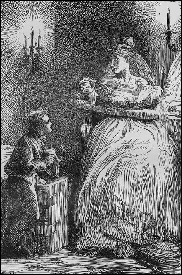 Pip and Mrs Havisham, from the 1862 edition of Great Expectations.