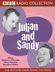Kenneth Williams and Hugh Paddick as Julian and Sandy from the cover of an album of their sketches.