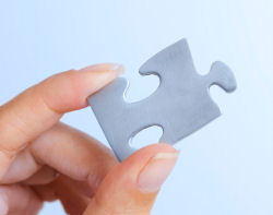 Photo of a jigsaw piece