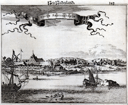 New Amsterdam in 1757