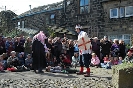 The pace egg play at Heptonstall