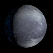 An artist's impression of the dwarf planet Pluto.