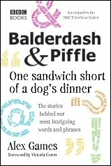The cover of Alex Games book Balderdash & Piffle.