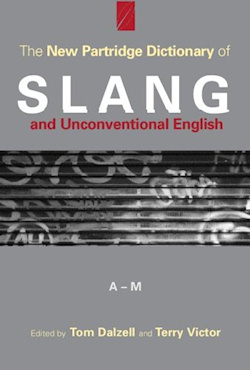 The cover of The New Partridge Dictionary of Slang