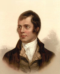 Contemporary portrait of Robert Burns