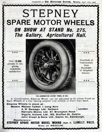 An advert from 1907