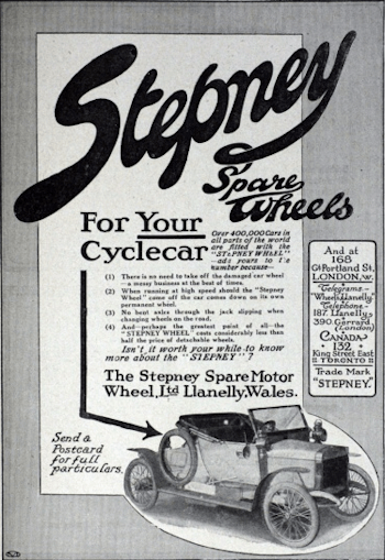 An advert from 1913