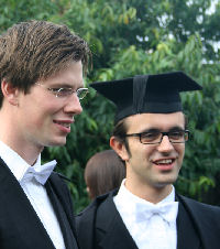 Two Oxford undergraduates in subfusc.