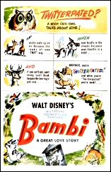 A film poster for the film Bambi, featuring the word 'twitterpated'.