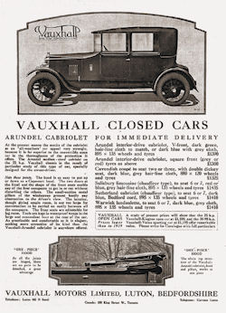Advert for Vauxhall car
