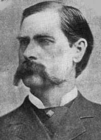 A portrait of Wyatt Earp